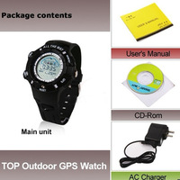 GPS Tracker Water-resistant Sport Watch Black  Integrated Version