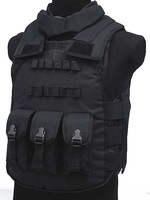 SWAT Airsoft Paintball Tactical Combat Assault Vest BLACK Free shipping