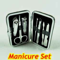 7 In 1 Manicure Set Gift Stainless steel Nail Clippers Pedicure Kit Free Shipping(China (Mainland))