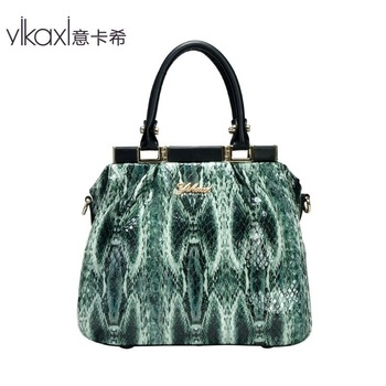 The Italian Ms. Cashin high-end handbag first layer of leather snakeskin pattern shoulder bag handbags in Europe and America ST2