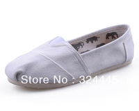 Flat  Unisex Men Women White Classic Canvas Shoes, Plain Casual Sneakers 7 colors + Free Shipping