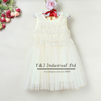 2013 New Fashion Baby Girl Dress Beige Chiffon And Cotton Kids New Style Dress For Children Summer Wear Wholesale E130422-1