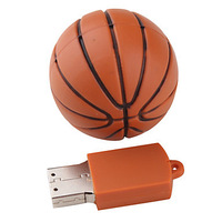 Free Shipping 4GB 8GB 16GB 32GB Basketball Style USB Flash Drive (Orange)