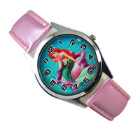 Princess Ariel Little Mermaid  Gilr Child  FASHION Wrist Quartz Watch Wholesale