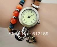 2013 Yiwu Popular design horse design leather watch free shipping
