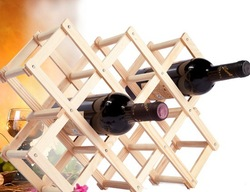 Free Shipping Wood Folding Wine Racks,Foldable Wine Stand Wooden Wine Holder10 Bottled.119(China (Mainland))