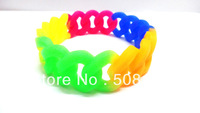 DHL free shipping 500PCS/lot New stylish rainbow color bracelets for ladies,19MM width, 5 mixed colors