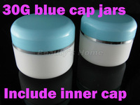 30g  jars for cosmetic cream with inner cap refillable bottle Small Empty Bottle Wholesale free shipping#1361