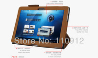New Luxury Brown Mediapad 10 fhd Leather case for Huawei MediaPad 10 FHD tablet PU cover, Factory Direct Sale+ Free Shipping