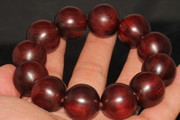 Lobular red sandalwood beads bracelets 15 20mm