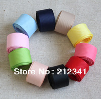 "Free shipping 50YDS 5/8"" 16mm Mixed 10 color Solid Color ribbon grosgrain ribbon"