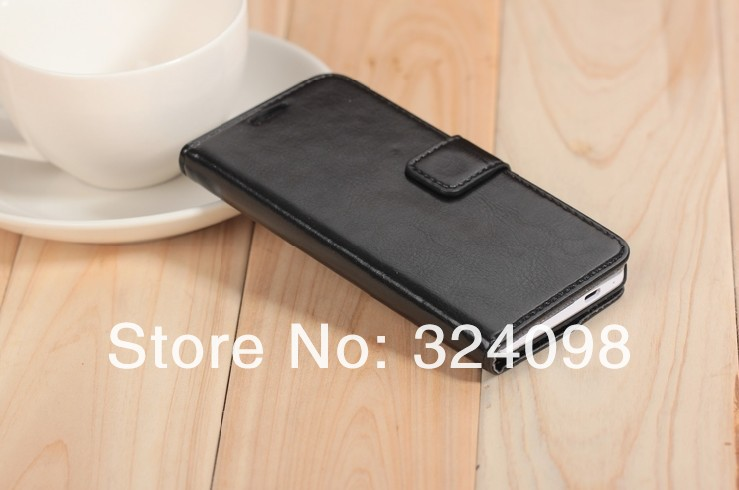 Free shipping 5pcs /lot Luxury Credit Card Stand Leather skin Case cover accessories Top Quality For HTC One M7 mobile phone(China (Mainland))