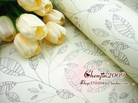 CJ24 gift wrapping paper,80gsm,75x52cm,50pc/lot,logo:pencil sketch trees branches&leaves;1lot/color;free shiping,gift paper wrap