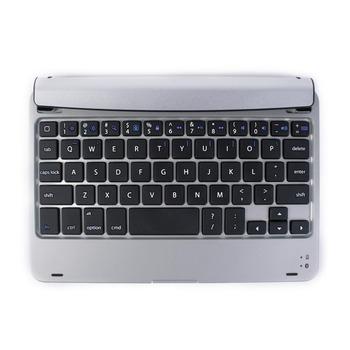 Silver Go Pro wireless bluetooth Russian keyboard case mini pc keyboard aluminum case keyboard for Apple iPad Mini Free shipping