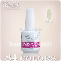 Free shipping! Hot sale ,CNF varnish Soak Off Nail Gel UV POLISH (color nail gel 10bottles+1free base coat +1 free top coat)