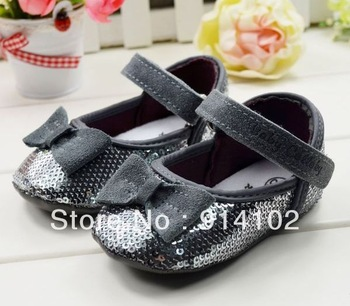 Free shipping girls Toddler shoes sequins baby prewalker  fashion elegance First walker boots size 11 12 13cm