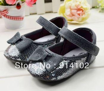 Free shipping girls Toddler shoes sequins baby prewalker  fashion elegance First walker boots size 11 12 13cm