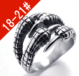#TFR044 men&#39;s personality finger rings fashion Titanium 316L stainless steel jewelry do lettering(China (Mainland))