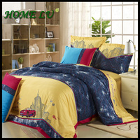 6pcs Cotton new embroidery bed cover set home textile Italian designs  King size home use truck bedding set luxury(DB)