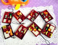 wholesale! cute PVC food model-Sushi box charm/phone straps/ keychain/chain free shipping