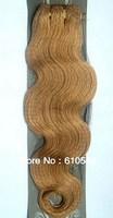 """Virgin Brazilian 3pcs Mixed Lot 12''14""""16""""18""""20""""22""""24""""26'' Remy Human Hair Extensions Weft 100g Wavy #12 Light Golden Brown"""