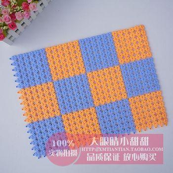 Pvc water-resisting mats bath mat bathroom mats carpet 12 patchwork