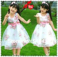 dress for girls  Kids summer dress clothes children summer princess dresses chiffon rose tulle  Rose flowe dresses