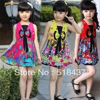 2013 children's clothing summer dresses baby kids child  national trend sleeveless Beach clothing