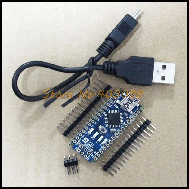 Funduino Nano 3.0 Atmel ATmega328 Mini-USB Board with USB Cable Free Shipping Dropshipping(China (Mainland))