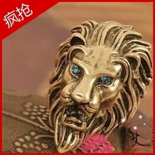 Min Order $15 (Mix Order) E0574 accessories fashion vintage lion head ring personalized 25g , free shipping(China (Mainland))