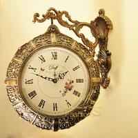 2014 New Real Circular Still Life Radio 20 Inch Wall Clocks Daf Metal Full Duff Fashion Double Faced Rustic Mute Wall Clock 308