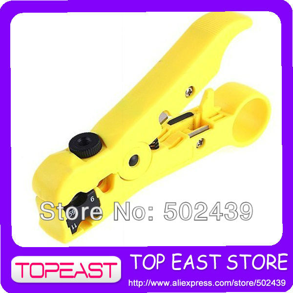 Network Phone Cable Wire Stripper Cutter _Hand Tool Kit for UTP STP RG59/6/7/11 CAT5 , Free / Drop Shipping Wholesale(China (Mainland))