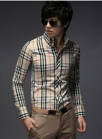 Hot Sale Free shipping Men's shirts Long sleeve 2colors Shoulder knot M,L,XL,XXL45