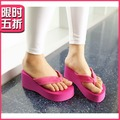 Women 2013 platform slippers ultra high heels flip flops flip wedges slippers slip-resistant women&#39;s beach