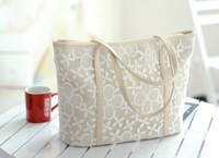 2013 Fashion Spring Summer A+ Female Delicate Lace Crochet Floral Handbags Women's Fresh Casual Bags GBG009