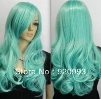 free P&P******* New wigs Long Water blue cosplay party lady Straight Wig COS 60CM