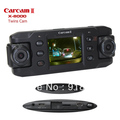 X8000 Car DVR Video Recorder with GPS logger and G-Sensor Double Cameras wide angle Dual Lens - Free shipping(China (Mainland))