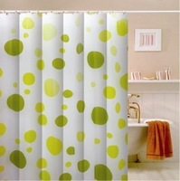 Green dot figure bath shade thickening of waterproof curtain environmental protection waterproof peva Shower Curtain 180 * 180cm