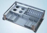 Hardware kitchen cabinet aluminum alloy tube drawer multifunctional dishes basket kf0406d