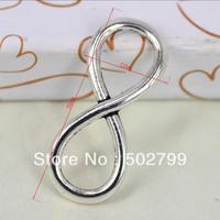 Free Shipping Wholesale Lots 30pcs Antique style Tibetan silver 8 infinity symbol Eternal charm pendants Connectors TS10370