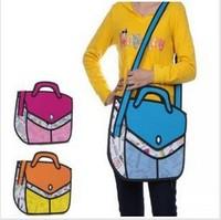 5pcs/lots Fashion design Taiwan secondary yuan 3D shoulder bags cartoon handbags tote bags1448