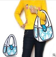 5pcs/lots Women solid tote bags Taiwan secondary yuan 3D bags cartoon handbags shoulder bags 1024