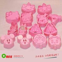 14pcs/set Cute Animal Design 3D cookie  Fondant Cake sugarcraft crafts mold bakeware cake tools Free Shipping