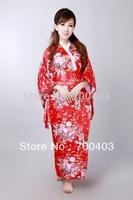 2014  Fashion  Vintage Japanese Women's Kimono Obi Party Evening Dress Butterfly Free Shipping H0044-c