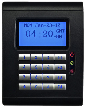 Black RFID Single Door Access Controller Reader