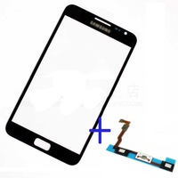 Grey Outer Screen Glass Lens for Samsung Galaxy Note 2 II N7100 GT-N7100 digitizer / LCD touch ORIGINAL + free Hongkong tracking
