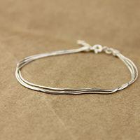 Accessories silver fashion simple paragraph female 925 pure silver bracelet