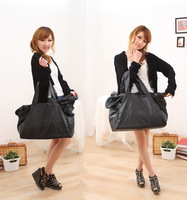 Fashion vintage PEACEBIRD black big bag fashion all-match messenger bag female bags