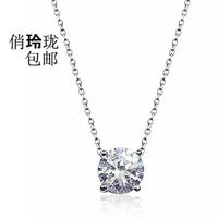 Artificial diamond rhinestone necklace hearts and arrows single female style simple design short chain