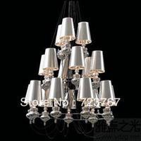 Free shipping Pendant light  modern fashion lamps project Modern European wrought iron lamp fashion18 head